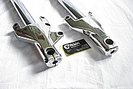 Aluminum Motorcycle Front Fork AFTER Chrome-Like Metal Polishing and Buffing Services
