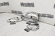 Triumph Aluminum Motorcycle Engine Covers AFTER Chrome-Like Metal Polishing and Buffing Services / Restoration Services