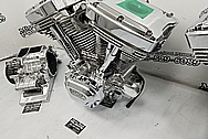 Harley Davidson Aluminum S&S Engine, Aluminum Heads, Aluminum Cylinders, Aluminum Transmissions Project AFTER Chrome-Like Metal Polishing - Aluminum Polishing Services