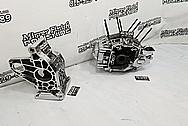 Harley Davidson Aluminum Engine Case and Transmission Case Project AFTER Chrome-Like Metal Polishing - Aluminum Polishing Services