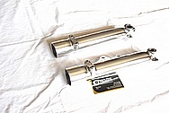 1975 Norton Commando MKIII Motorcycle Aluminum Forks AFTER Chrome-Like Metal Polishing and Buffing Services
