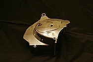 Kawasaki Aluminum Motorcycle Cover Piece AFTER Chrome-Like Metal Polishing and Buffing Services