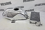 Harley Davidson Aluminum Inner Primary Cover Piece AFTER Chrome-Like Metal Polishing - Aluminum Polishing