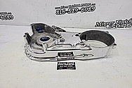 Harley Davidson Aluminum Motorcylce Primary Engine Cover AFTER Chrome-Like Metal Polishing - Aluminum Polishing