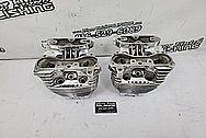Harley Davidson Aluminum Cylinder Heads AFTER Chrome-Like Metal Polishing and Buffing Services / Restoration Services - Aluminum Polishing