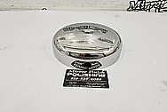 1948 Harley Davidson Stainless Steel Air Cleaner AFTER Chrome-Like Polishing and Buffing - Stainless Steel Polishing