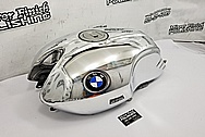 BMW Nine-T Motorcycle Aluminum Tank and Cover Piece AFTER Chrome-Like Metal Polishing and Buffing Services / Restoration Services - Aluminum Polishing - Motorcycle Polishing