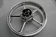 Yamaha Motorcycle Aluminum Wheel AFTER Chrome-Like Metal Polishing and Buffing Services