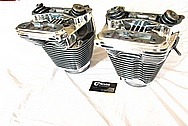 Harley Davidson Aluminum Cylinder Heads AFTER Chrome-Like Metal Polishing and Buffing Services / Restoration Services