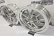 Aluminum Motorcycle Wheels AFTER Chrome-Like Metal Polishing and Buffing Services / Restoration Services - Aluminum Polishing - Motorcycle Polishing - Wheel Polishing