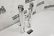 Harley Davidson Aluminum Motorcycle Lower Forks and Piece Project AFTER Chrome-Like Metal Polishing and Buffing Services / Restoration Services - Aluminum Polishing - Motorcycle Polishing