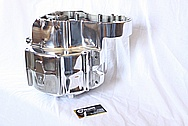Harley Davidson Panhead Aluminum Motorcycle Engine Case AFTER Chrome-Like Metal Polishing and Buffing Services Plus Custom Painting Services