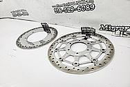 Steel Motorcycle Brake Rotor Project AFTER Chrome-Like Metal Polishing - Aluminum Polishing - Steel Brake Rotor