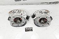 Harley Davidson Aluminum Motorcycle Cylinder Heads AFTER Chrome-Like Metal Polishing - Aluminum Polishing - Motorcycle Parts Polishing - Cylinder Head Polishing