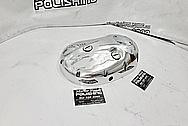 Motorcycle Side Engine Cover Piece AFTER Chrome-Like Metal Polishing - Aluminum Polishing - Motorcycle Parts Polishing