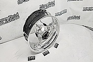 Suzuki GSXR 1000 Aluminum Motorcycle Wheel AFTER Chrome-Like Metal Polishing - Aluminum Polishing - Motorcycle Parts Polishing - Wheel Polishing