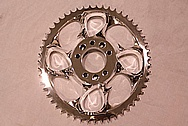 Custom Aluminum Chopper Sprocket AFTER Chrome-Like Metal Polishing and Buffing Services