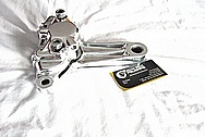 Aluminum Motorcycle Brake Caliper AFTER Chrome-Like Metal Polishing and Buffing Services