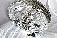 Aluminum Motorcycle Wheel AFTER Chrome-Like Metal Polishing and Buffing Services