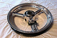 2008 Suzuki Hayabusa Motorcycle Aluminum Wheel AFTER Chrome-Like Metal Polishing and Buffing Services