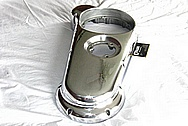 2003 Indian Scout Motorcycle Aluminum Engine Cover AFTER Chrome-Like Metal Polishing and Buffing / Restoration Services