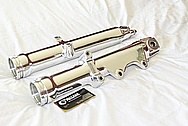 1998 Harley Davidson WideGlide Aluminum Front Forks AFTER Chrome-Like Metal Polishing and Buffing Services / Resoration Services