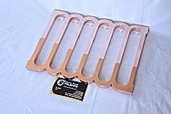 Motorcycle Custom Copper Rack Pieces AFTER Chrome-Like Metal Polishing and Buffing Services / Restoration Services