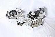 Motorcycle Aluminum Engine Cases AFTER Chrome-Like Metal Polishing and Buffing Services / Restoration Services