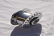 Aluminum Motorcycle Hub AFTER Chrome-Like Metal Polishing and Buffing Services