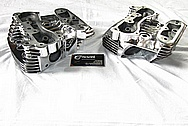 Harley Davidson Motorcycle Aluminum Cylinder Heads AFTER Chrome-Like Metal Polishing and Buffing Services / Restoration Services