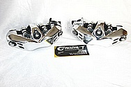 Motorcycle Steel Nisin Front Brake Calipers AFTER Chrome-Like Metal Polishing and Buffing Services / Restoration Services