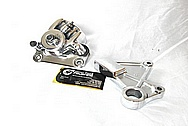 Motorcycle Steel Nisin Rear Brake Caliper AFTER Chrome-Like Metal Polishing and Buffing Services / Restoration Services