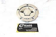 Motorcycle Aluminum Gas Cap Cover Piece AFTER Chrome-Like Metal Polishing and Buffing Services / Restoration Services