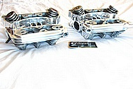 2002 Harley Davidson Sportster Motorcycle / Bike Aluminum Cylinder Heads AFTER Chrome-Like Metal Polishing and Buffing Services / Resoration Services