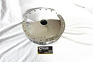 Harley Davidson Aluminum Motorcycle Front Wheel Brake Hub AFTER Chrome-Like Metal Polishing and Buffing Services / Restoration Services