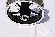 Yamaha Victory Aluminum Motorcycle Wheel AFTER Chrome-Like Metal Polishing and Buffing Services
