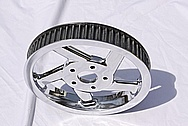 Yamaha Victory Aluminum Belt Drive Cog AFTER Chrome-Like Metal Polishing and Buffing Services