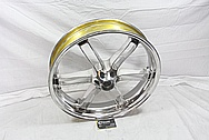 Buell XP Aluminum Powdercoated Motorcycle Wheels AFTER Chrome-Like Metal Polishing and Buffing Services / Restoration Services