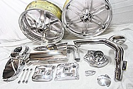 Buell XP Aluminum Motorcycle Parts AFTER Chrome-Like Metal Polishing and Buffing Services / Restoration Services