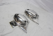 Triumph Aluminum Motorcycle Engine Cover Piece AFTER Chrome-Like Metal Polishing and Buffing Services / Restoration Services