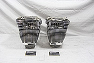 Harley Davidson S&S Aluminum Cylinders and Cylinder Heads AFTER Chrome-Like Metal Polishing and Buffing Services / Restoration Services