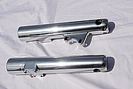 Yamaha Victory Motorcycle Aluminum Front Forks AFTER Chrome-Like Metal Polishing and Buffing Services