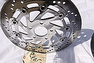 Yamaha Victory Motorcycle Steel Rear Rotor AFTER Chrome-Like Metal Polishing and Buffing Services