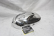 1973 Suzuki GT750 Motorcycle Engine Cover Piece AFTER Chrome-Like Metal Polishing and Buffing Services / Restoration Services