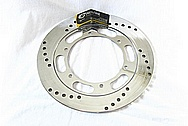 Motorcycle Steel Brake Rotor AFTER Chrome-Like Metal Polishing and Buffing Services / Restoration Service