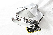 Aluminum Motorcycle Hub Cover Piece AFTER Chrome-Like Metal Polishing and Buffing Services / Restoration Service