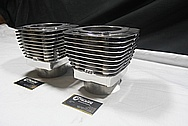 Harley Davidson Aluminum S&S Cylinder Heads AFTER Chrome-Like Metal Polishing and Buffing Services / Restoration Service