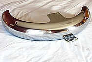 Harley Davidson Steel Front Fender AFTER Chrome-Like Metal Polishing and Buffing Services / Restoration Service