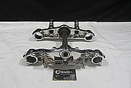 Aluminum Motorcycle Triple Tree Parts AFTER Chrome-Like Metal Polishing and Buffing Services / Restoration Service