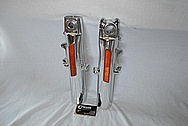 Aluminum Motorcycle Front Forks AFTER Chrome-Like Metal Polishing and Buffing Services / Restoration Service
